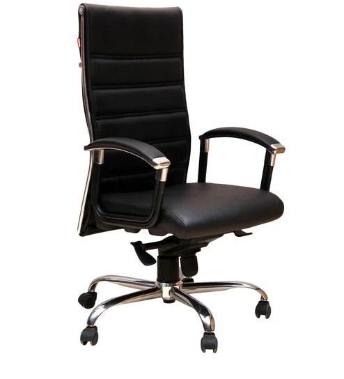 geeken revolving chair children s upholstered rocking www picswe com buy executive high back in black colour online jpg 494x544