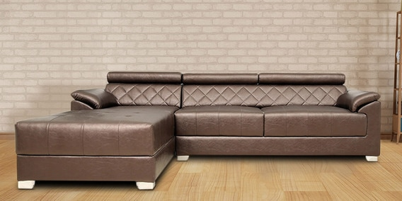 indian l shaped sofa design sectional sofas lafayette indiana buy exotica rhs with lounger in designer leatherette upholstery by star india