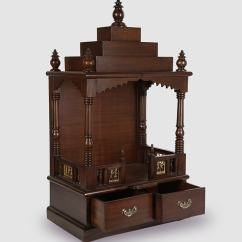 Buy Modern Kitchen Cabinets Online American Made Solid Wood Hand Pooja Mandir In Walnut Finish By ...