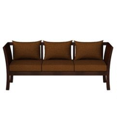 Simple Wooden Sofa Set Online Cat Protectors Buy Falcon Teak Wood 3 1 In Mahogany Finish By Casateak Sets Sofas Pepperfry