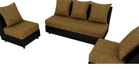 fancy sofa sets denim slipcovered sleeper set in bronze colour by housefull online furniture pepperfry product