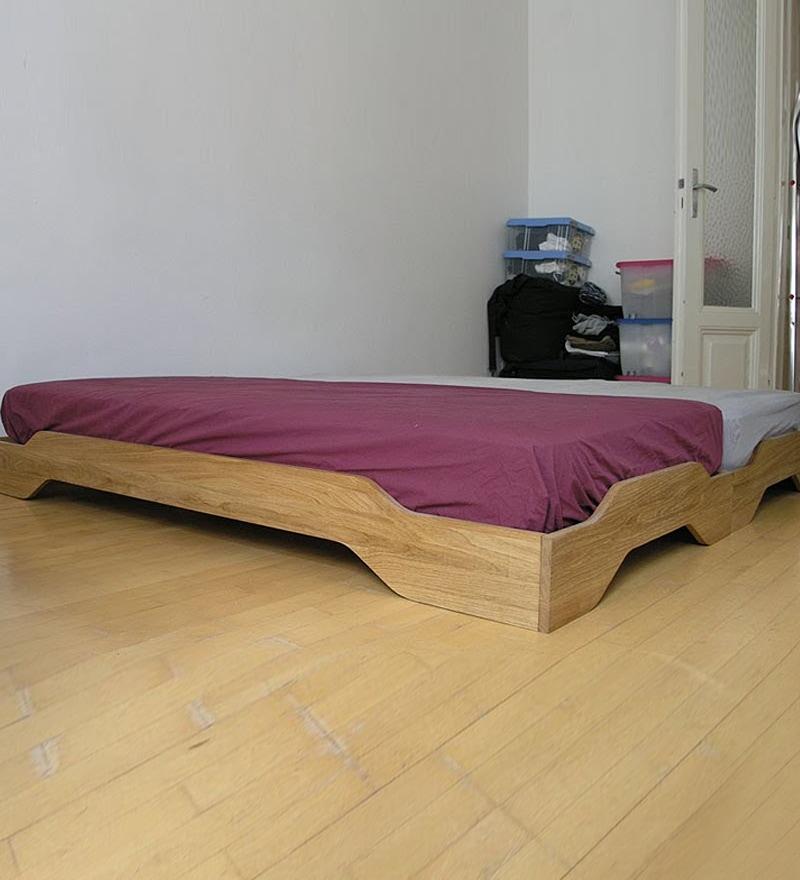Flute Stackable Single Bed  Teak by Komfort Furnishers