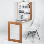 Buy Folding Wall Mounted Storage Cabinet With Study Table In Dessert Walnut Colour By Futurdecor Online Modern Writing Tables Tables Furniture Pepperfry Product