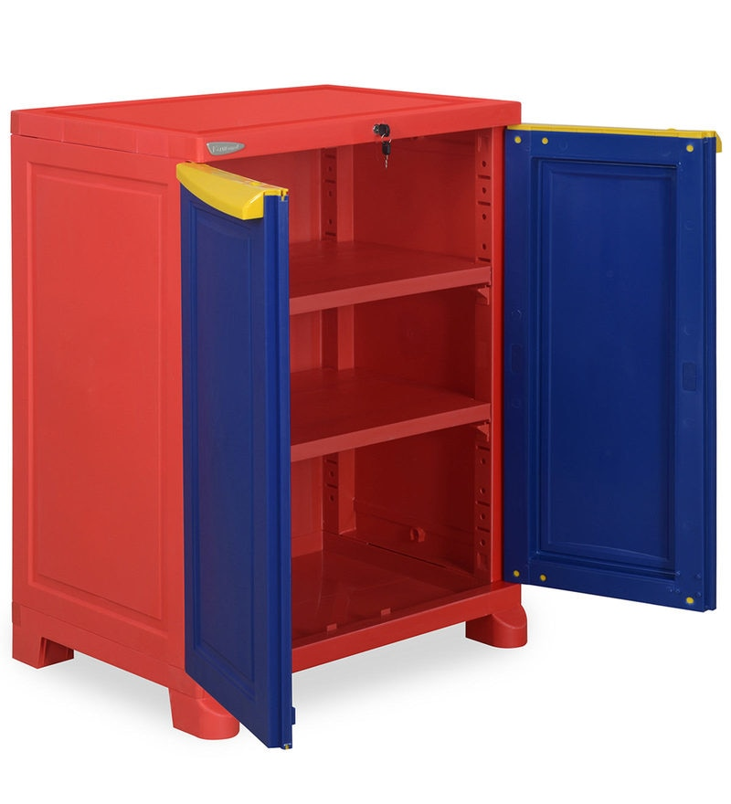 buy kitchen cabinets online delta leland faucet freedom small cabinet in red & blue colour by nilkamal ...