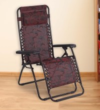 Buy Frolic Easy Foldable Chair in Purple & Red Colour by