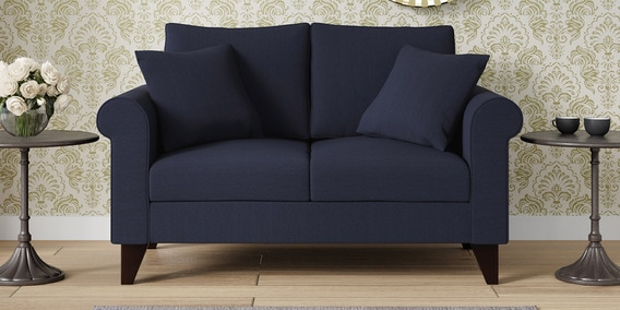 sofa materials bangalore modern seattle sofas buy online at best price in india pepperfry fuego two seater navy blue colour