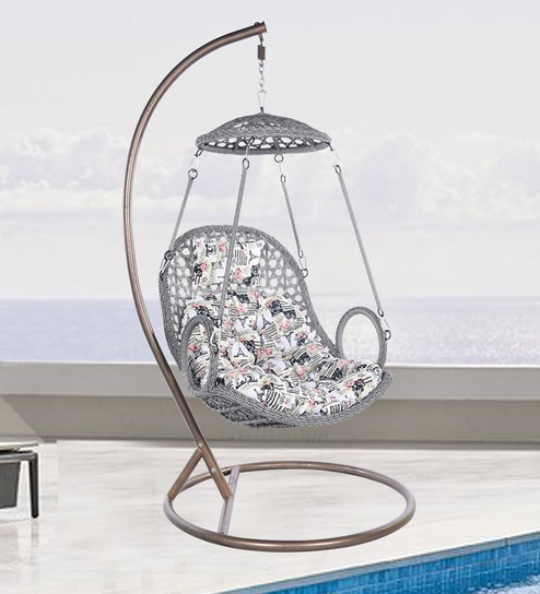 swing chair with stand pepperfry folding tattoo buy garden jullay in grey colour by royal oak online swings hammocks outdoor furniture product
