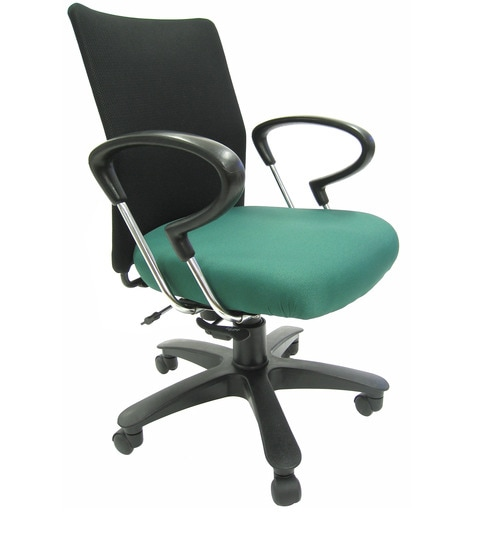 ergonomic chair bd space saving kitchen table and chairs buy geneva desktop chrome office in black green colour by chromecraft online pepperfry