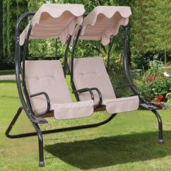 Swing Chair With Stand Pepperfry Office Chairs Houston Buy Glider Canopy In Cream Colour By Royal Oak Online Swings Hammocks Outdoor Furniture Product