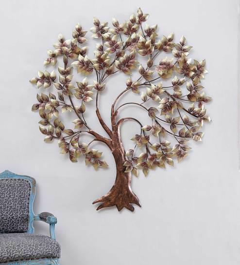 gold metal budha tree