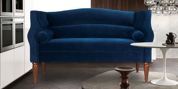 sofa blue color cushion foam replacement singapore buy gretel two seater in by dreamzz furniture online