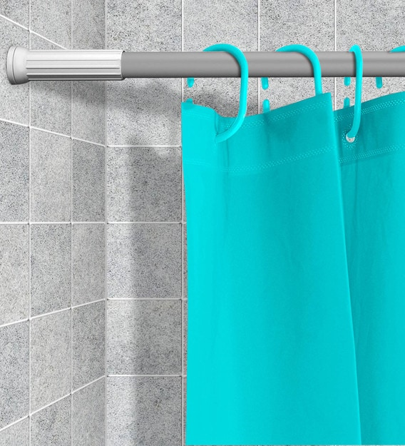 grey metal modern simple pvc shower curtain rod 27 5 inch extendable to 47 inch