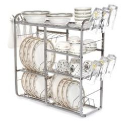 Kitchen Racks Design Images Buy Online In India At Best Prices Home Creations 4 Layers Stainless Steel Utensils Rack