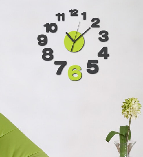 Buy Home Decor Line Vinyl Wall Clock Wall Sticker Online People