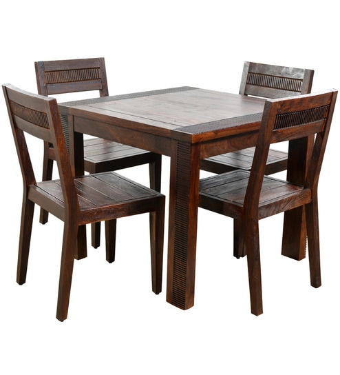 set of 4 dining chairs fabric club chair buy venus four seater 1 table by hometown online sets furniture pepperfry product