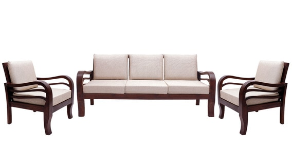 colonial sofa sets grey fabric dye for buy hughes teak wood set 1 seater 3 in fresh walnut finish by amberville online sofas pepperfry