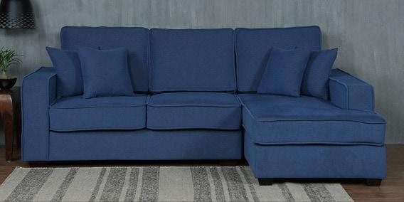 hugo 2 seater lhs sectional sofa in denim blue colour