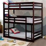 Buy Jolly Triple Bunk Bed In Brown By Urge Online Standard Bunk Beds Bunk Beds Kids Furniture Pepperfry Product