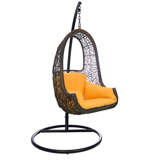swing chair home town teal recliner buy juliet without stand in orange colour by hometown online swings outdoor furniture pepperfry