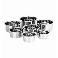 Kitchen Vessels Set Small Sinks Kalash Stainless Steel Flat Bottom Of 7 By