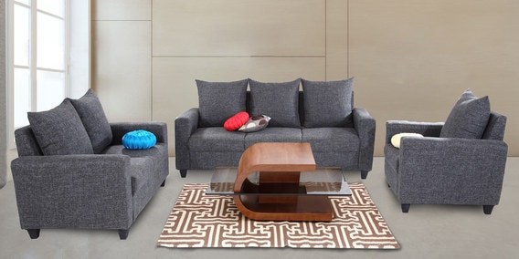 good sofa sets camo buy kayoto 3 2 1 set in grey colour by looking furniture