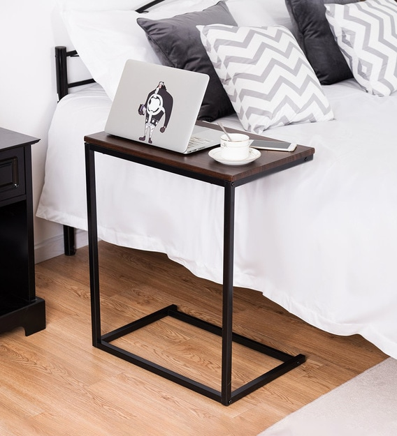 kaylie end table in dark maple colour