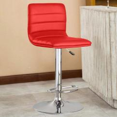 Revolving Chair For Kitchen French Country Dining Buy Bar Stool In Red Leatherette By Exclusive Furniture Online Swivel Stools Pepperfry Product