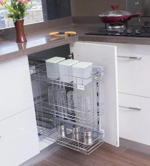kitchen basket faucet with handspray buy klaxon stainless steel triple online baskets organisers housekeeping pepperfry product