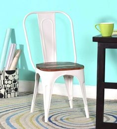 steel chair buyers in india tufted leather tub accent chairs buy online at best prices kumtor metal distress white colour with wooden seat