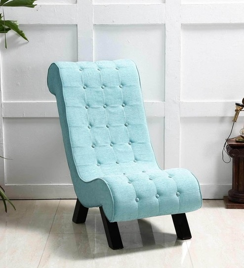 aqua accent chair iconic leather buy lawrence in blue color by amberville online chairs pepperfry