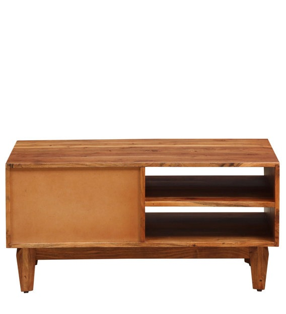 Mobile tv a 2 ante e 1 cassetto in legno massello di acacia tony su maisons du monde. Buy Lennart Solid Wood Tv Console In Vintage Walnut Finish Woodsworth By Pepperfry Online Transitional Tv Consoles Cabinetry Furniture Pepperfry Product
