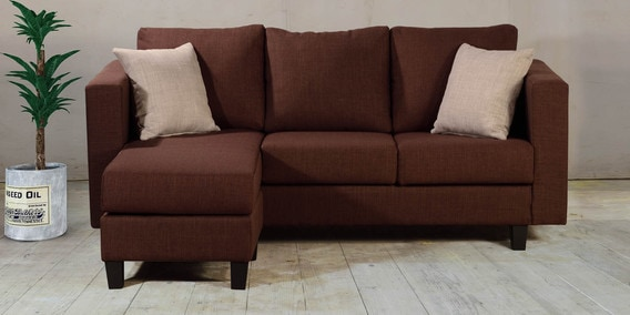 2 seater l shaped sofa bed overstuffed sofas loveseats buy lisa three in brown colour by dhep furniture