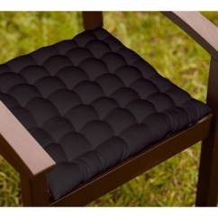 Chair Cushions With Tie Backs Hanging Van Buy Lushomes Black Cotton 16 X Inch Cushion 36 Knots 15 4 By