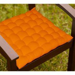 Chair Cushions With Tie Backs Big Bean Bag Chairs Buy Lushomes Orange Cotton 16 X Inch Cushion 36 Knots We Are Sorry But This Item Is Out Of Stock