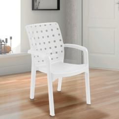 White Plastic Chairs Microfiber Club Chair Buy Luxury In Colour By Italica Furniture Online Pepperfry Product