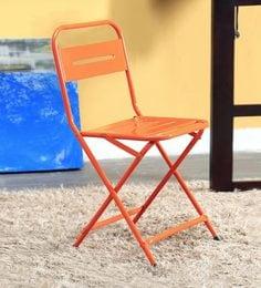 steel chair price in chennai kitchen island chairs outdoor furniture buy garden online india marandoo grunge orange folding