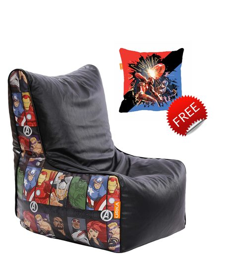 avengers bean bag chair ottoman buy marvel kids with beans in multicolour by orka small cushion inside online bags pepperfry