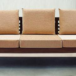 Teak Sofa Sets Hyderabad Diy Table Plans Buy Mariana Wood Three Seater In Fresh Walnut ...