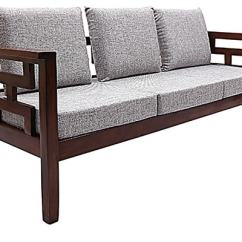 Outdoor Wooden Folding Chairs Blue Bar Buy Mariana Teak Wood Sofa Set (3 Seater + 1 Seater) In Fresh Walnut Finish By ...