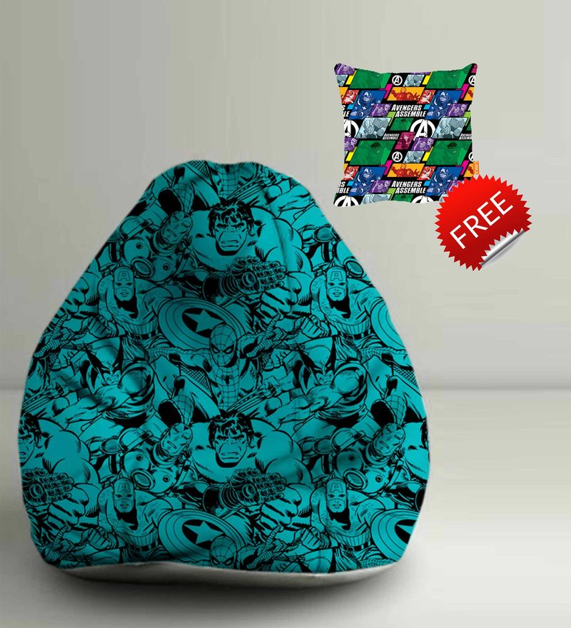avengers bean bag chair outdoor chaise lounge chairs with wheels buy marvel comics digital printed xxl filled click to zoom in out