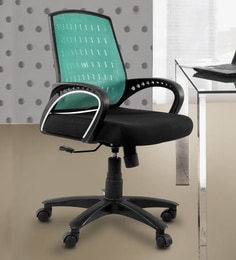 revolving chair base price in india yellow sashes office online buy ergonomic chairs at best medium back black green colour