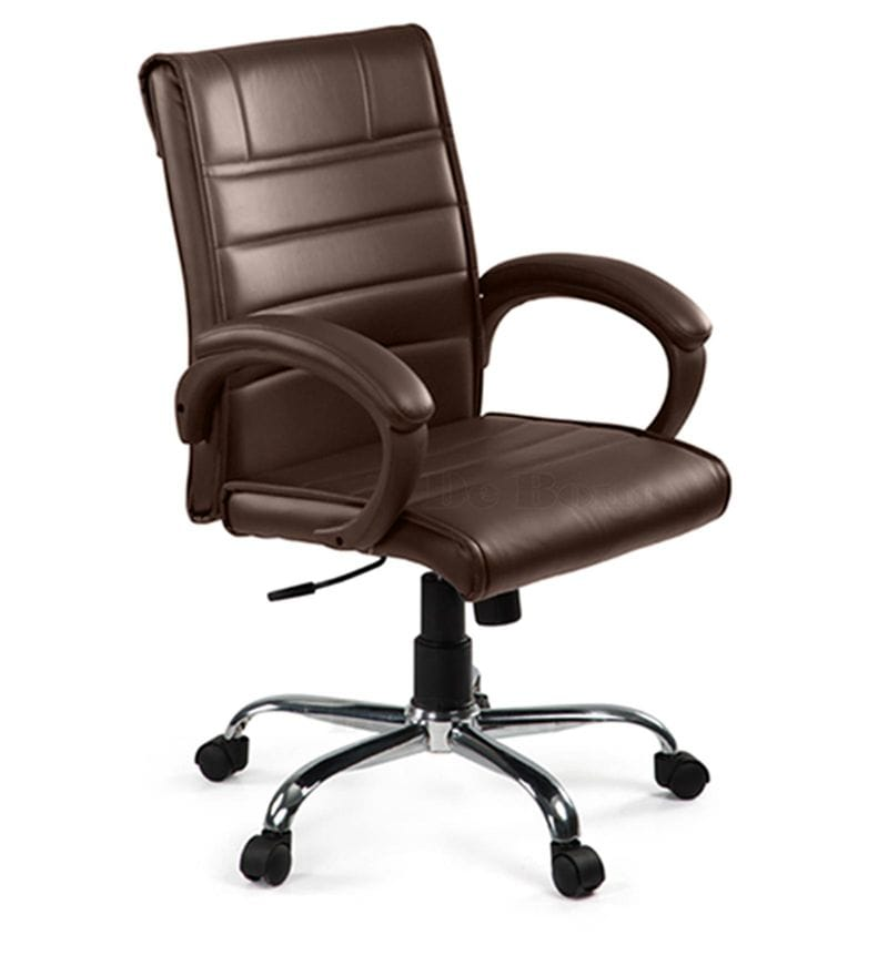 revolving chair mechanism modern waiting room chairs buy medium back with centre tilt in brown click to zoom out