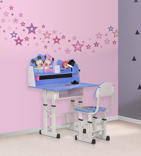 minnie table and chairs wheelchair jeep buy mickey study desk chair set by royal oak online kids tables furniture pepperfry product