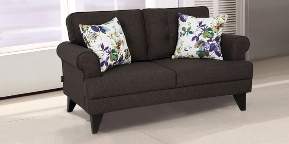 brown fabric sofa rock buy miller two seater in colour by hometown online