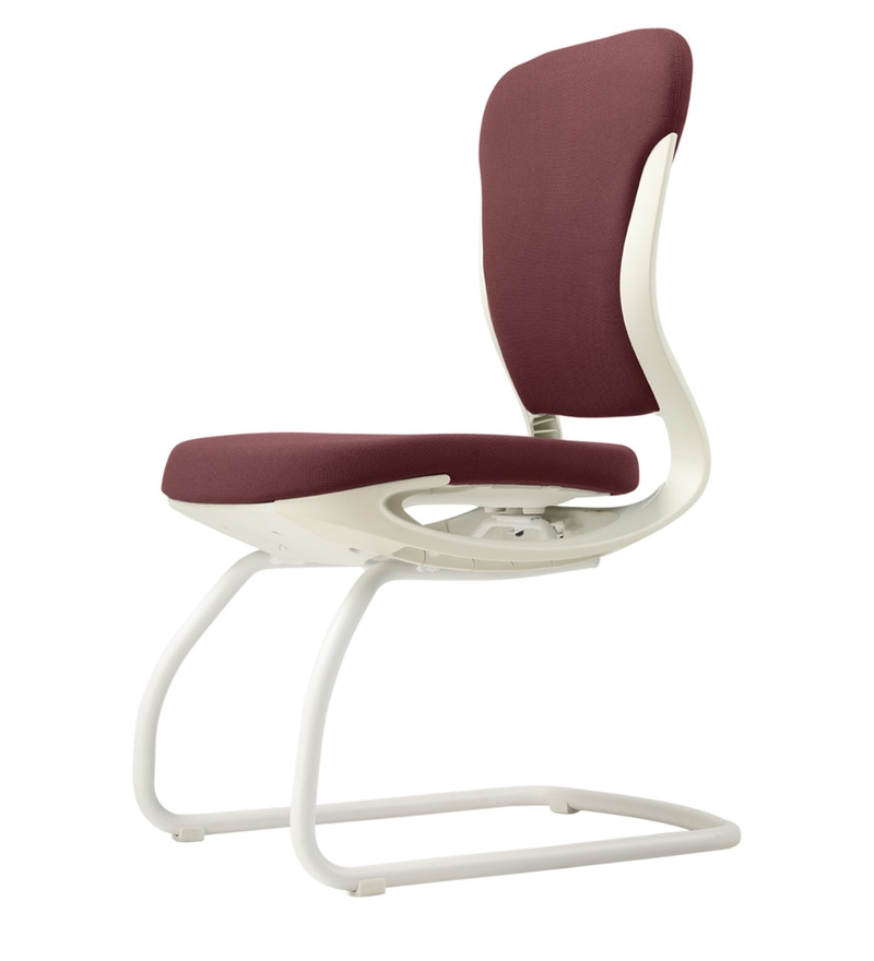 ergonomic chair godrej price mickey rocking buy motion visitor in burnt russet white color by click to zoom out explore more from furniture