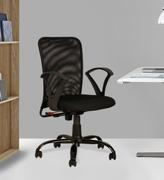 revolving chair for study wing recliners office online buy ergonomic chairs in india at best native black colour