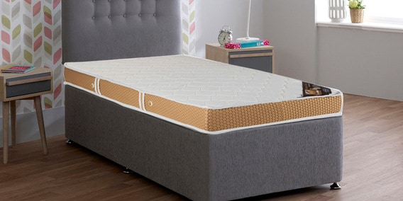 Nature S Finest Ortho Single 5 Inch Rebonded Foam With Latex Mattress