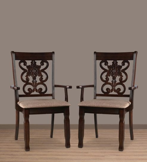 dining chair with armrest table 4 chairs buy new victoria set of 2 in wenge finish by hometown online contemporary furniture pepperfry