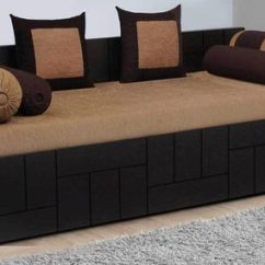 2 Cushion Sofa Bunk Bed Combination Patent Buy Nelson Cum With Cushions 4 Bolsters In Brown Colour By Auspicious Home