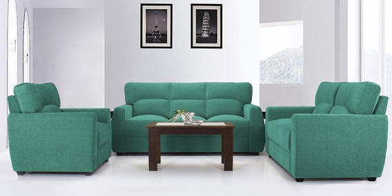 teal sofas gray bedroom sofa buy octo set 3 2 1 seater in colour by vive online sets pepperfry